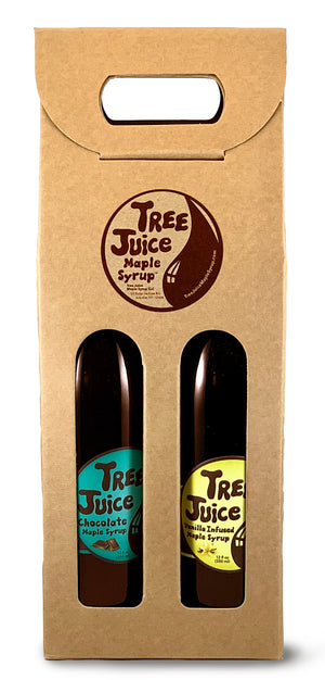 Tree Juice Maple Syrup - Variety 3 Pack (Chocolate and Vanilla Maple Syrup)