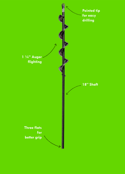 "Roto Earth: 18"" Garden Digging Auger Drill Bit"
