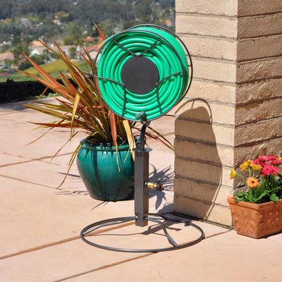 Free-Standing 200 ft. 360 Degree Swivel Hose Reel with Patio Base