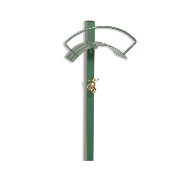 Free Standing Hose Hanger With Faucet Yard Butler