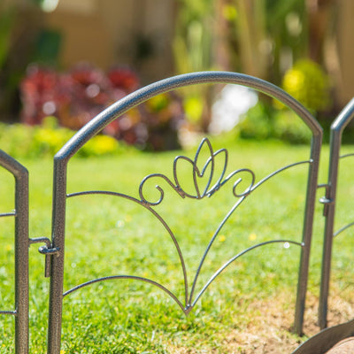 Decorative Steel Garden Fence Panels