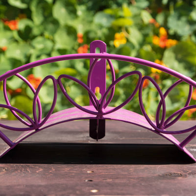 Decorative Wall Mount Hose Hanger - Flowers
