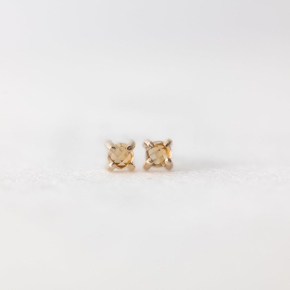 Citrine stud earrings - luxe.zen
