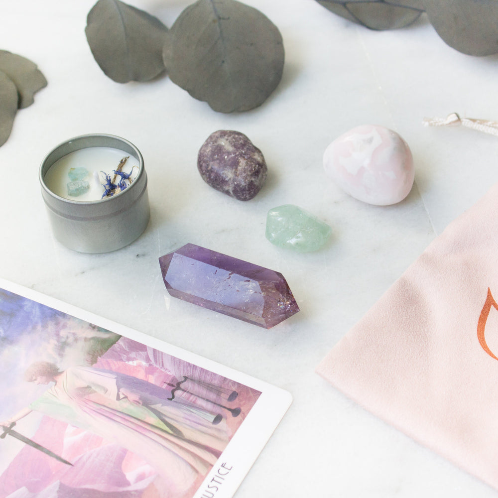 The Lotus: ethically sourced crystal kit for stress and anxiety - Luxe Zen Gems - luxe.zen