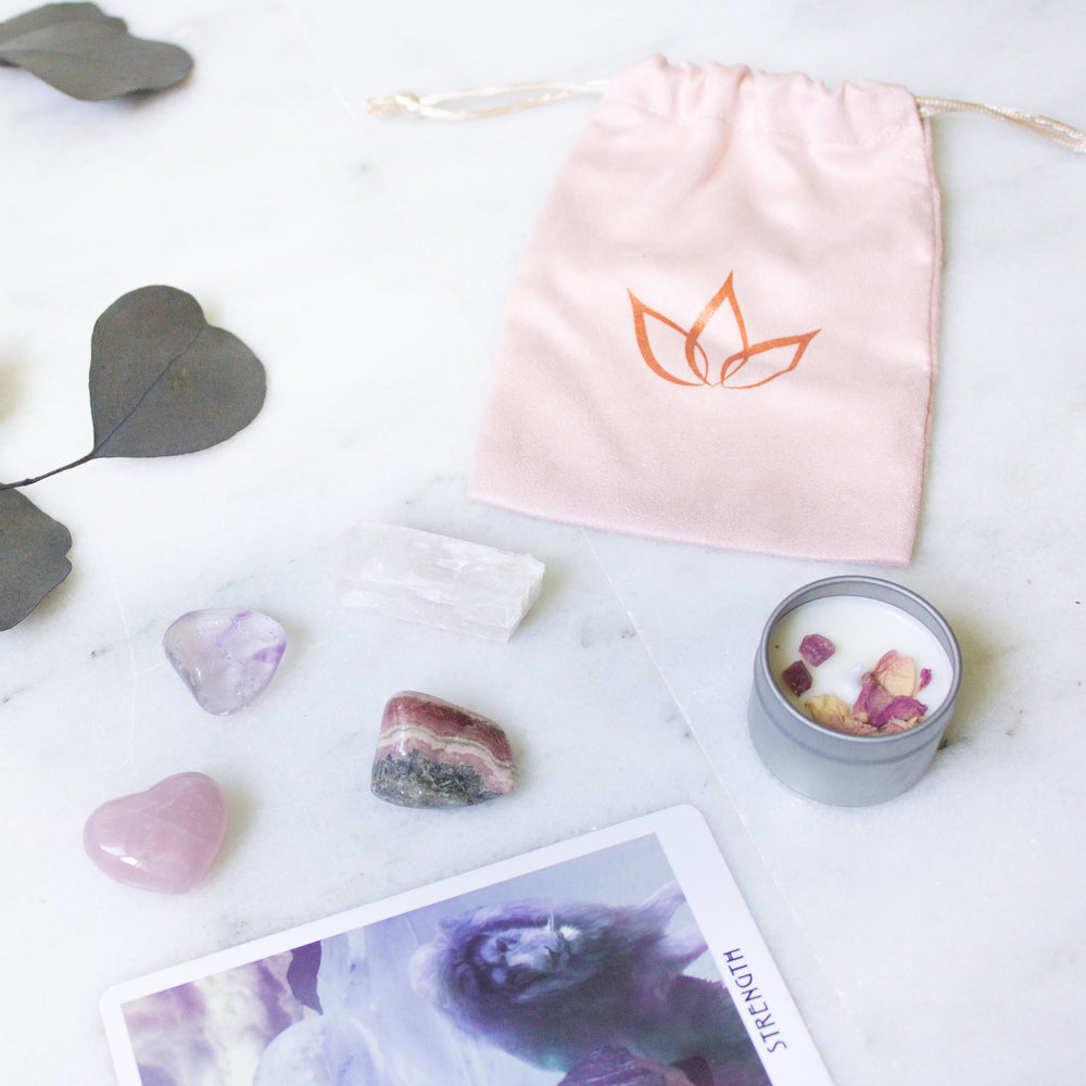 The Warrior: ethically sourced crystal kit for self love & self esteem - Luxe Zen Gems - luxe.zen
