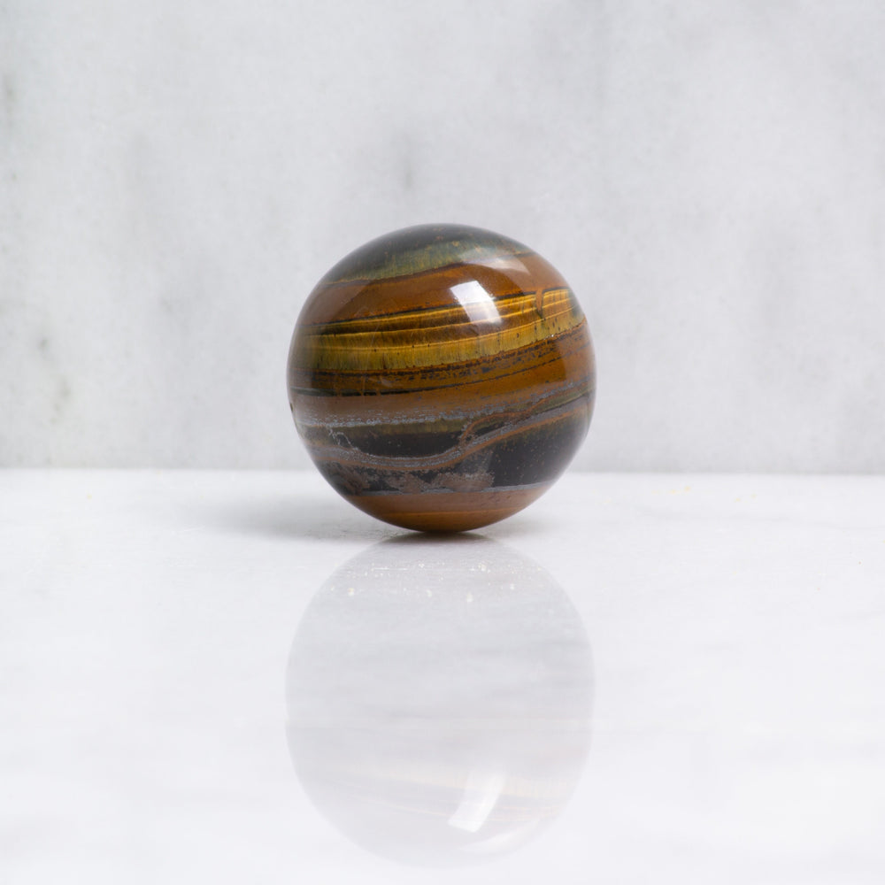 Tigers Eye crystal sphere | ethically sourced rose quartz ball from South Africa | yellow tiger's eye ball for energy and bravery
