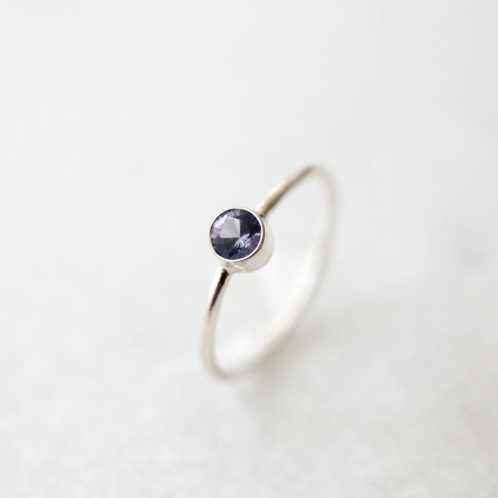 Natural tanzanite ring | 4mm ethical tanzanite stacking ring | sterling silver, 14k yellow, or rose gold fill | december birthstone