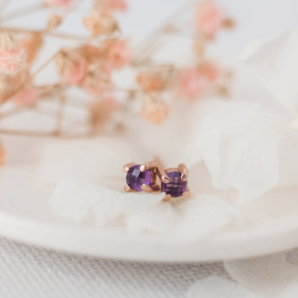 Natural amethyst earrings - luxe.zen