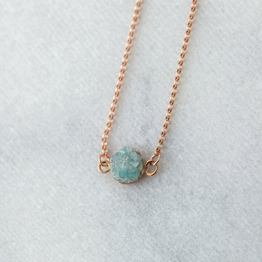 Raw amazonite gemstone crystal mosaic station layering necklace - Luxe Zen Gems - luxe.zen