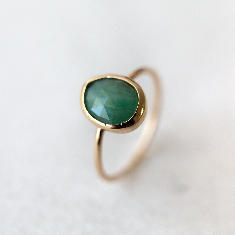 SAMPLE - Emerald nebula ring - luxe.zen
