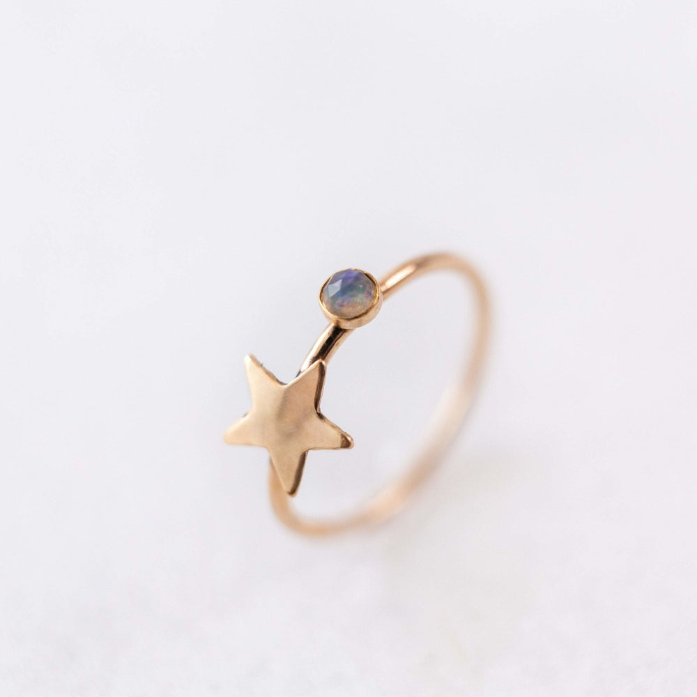 SAMPLE - Faraway star Ethiopian opal stacking gemstone ring