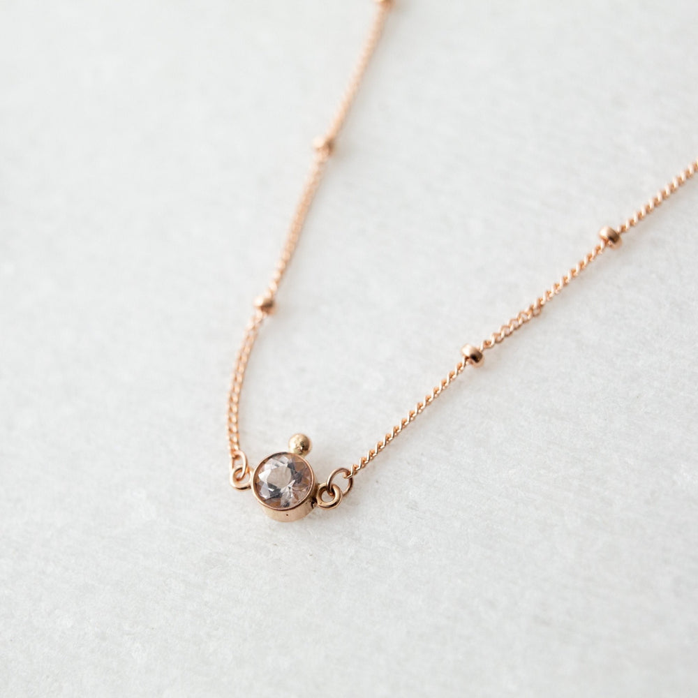 SAMPLE - Morganite orbit layering necklace - luxe.zen