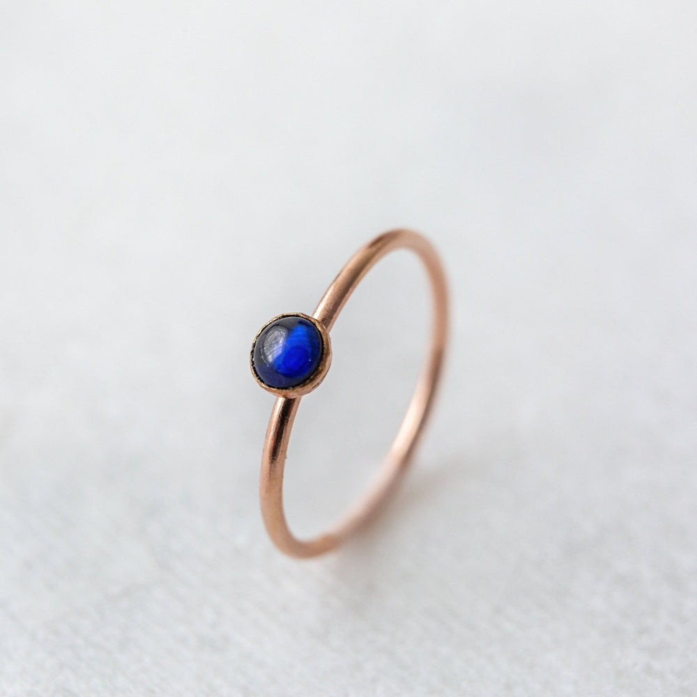 SAMPLE - Sapphire bezel stacking gemstone ring