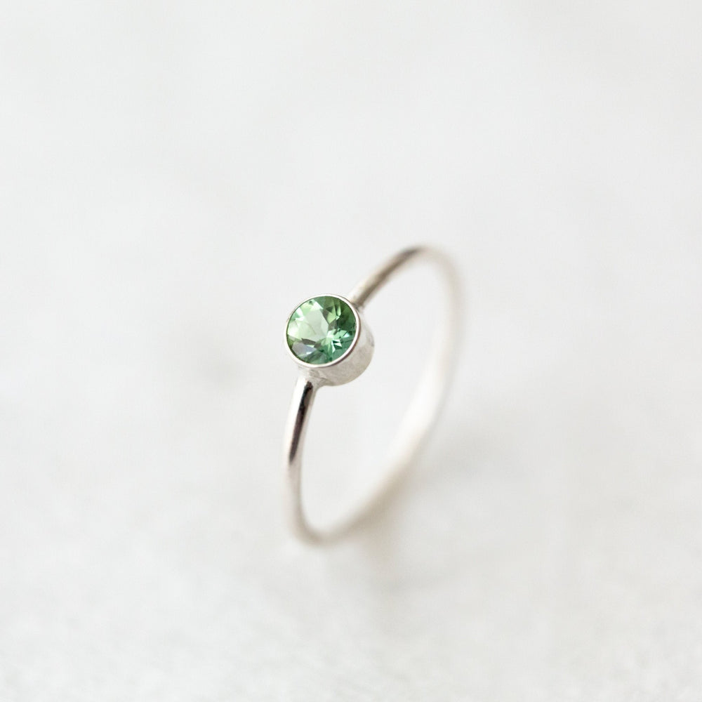 SAMPLE - Seafoam green tourmaline orbit band ring - luxe.zen