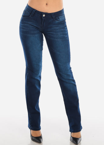 Low Rise Dark Navy Bootcut Jeans