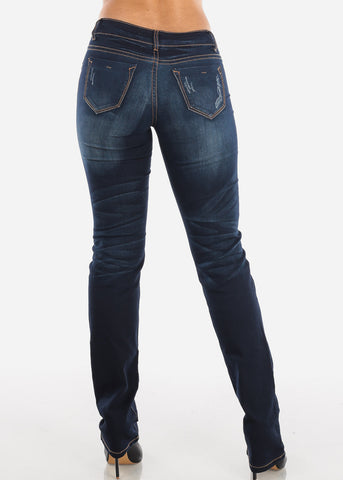 Low Rise Bootcut Dark Wash Jeans