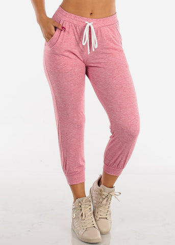 Cropped Pink Jogger Pants