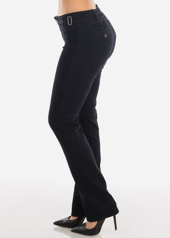 Image of Black Butt Lifting Bootcut Jeans