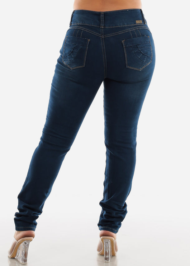 Plus Size Butt Lifting Skinny Ripped Jeans