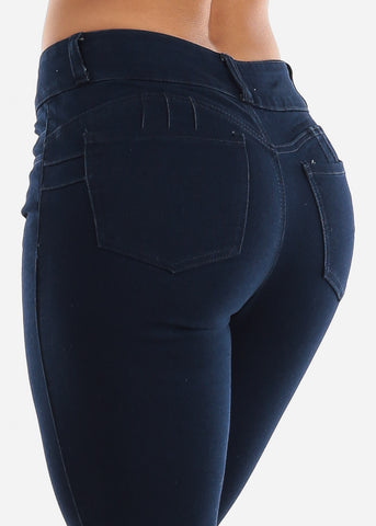 Image of Butt Lifting Dark Navy Skinny Jeans
