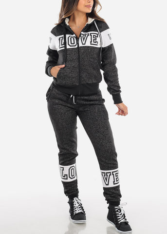 Image of Warm Charcoal Sweater & Pants (2 PCE SET)