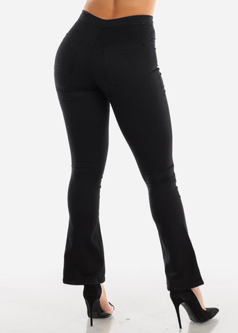 Image of High Rise Black Wide Legged Jeans