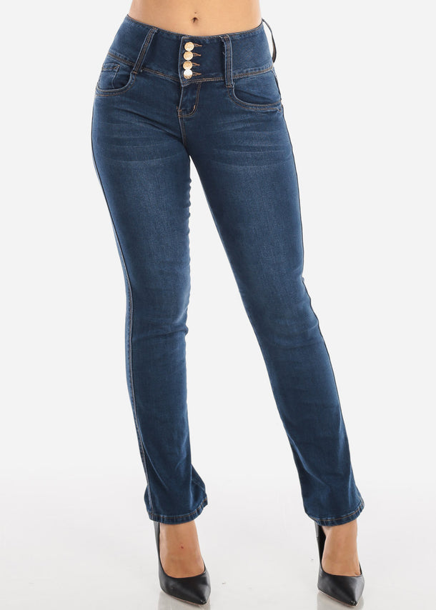 High Waist Dark Wash Bootcut Jeans