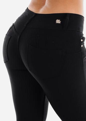 Image of Black Butt Lifting Jegging Skinny Pants