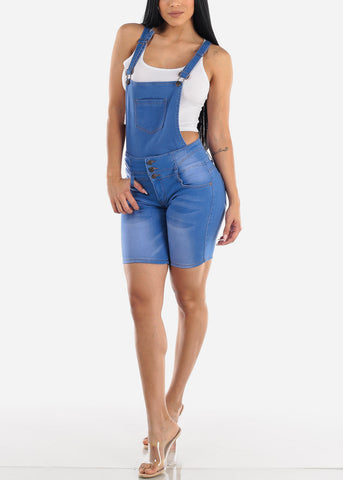Image of Multiway Med Blue Denim Overall or Shorts