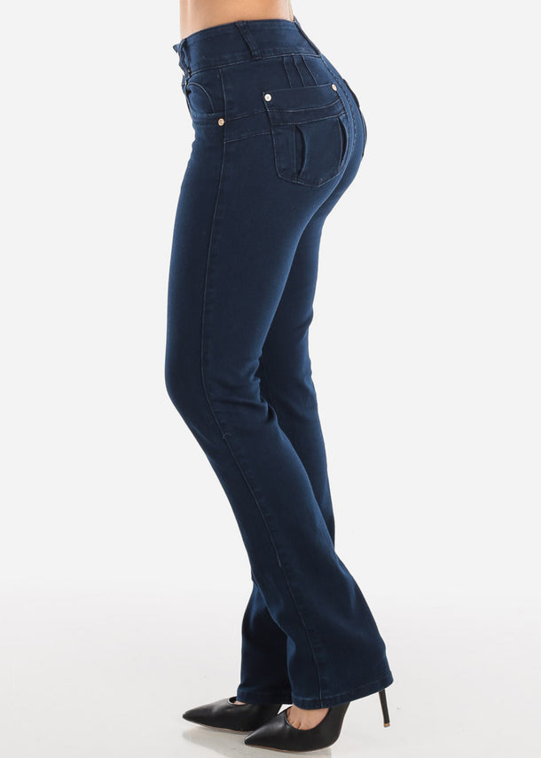 Navy Bootcut Butt Lifting Jeans