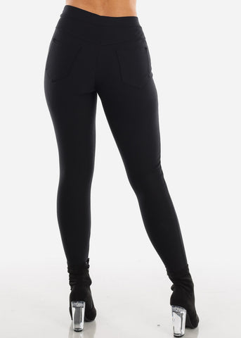 Image of High Rise Black Trouser Legging