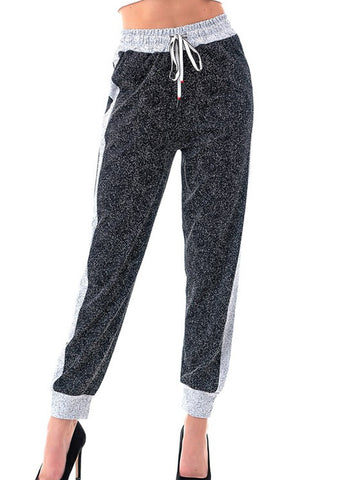 Image of Black & White Jogger Pants