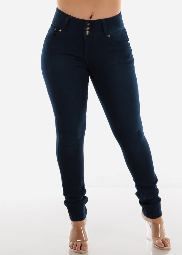 Dark Wash Plus Size Butt Lifting Skinny Jeans