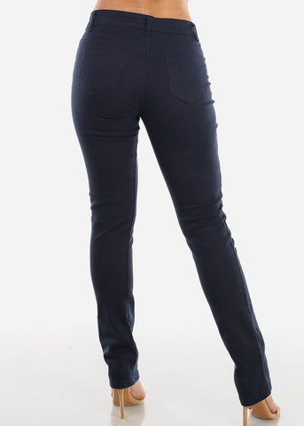 Image of Straight Leg Navy Jeans