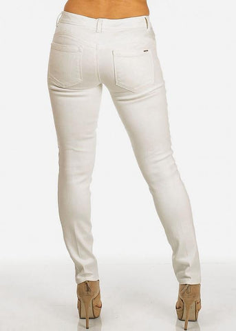 Image of Low Rise White Skinny Pants