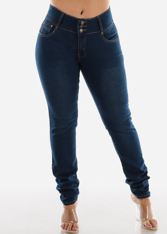 Plus Size High Waisted Butt Lifting Skinny Jeans
