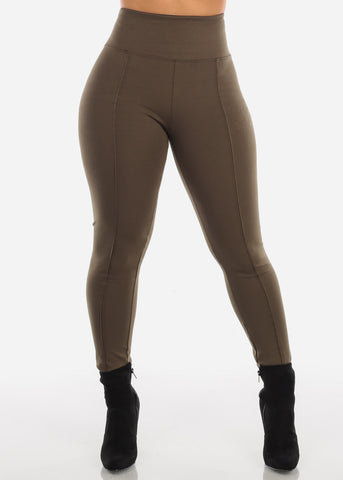 Image of High Rise Olive Leggings