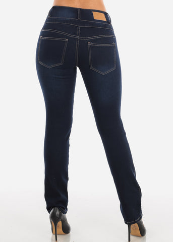 Image of Bootcut High Rise Dark Wash Jeans