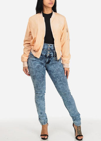 Image of High Waist Levanta Cola Skinny Jeans
