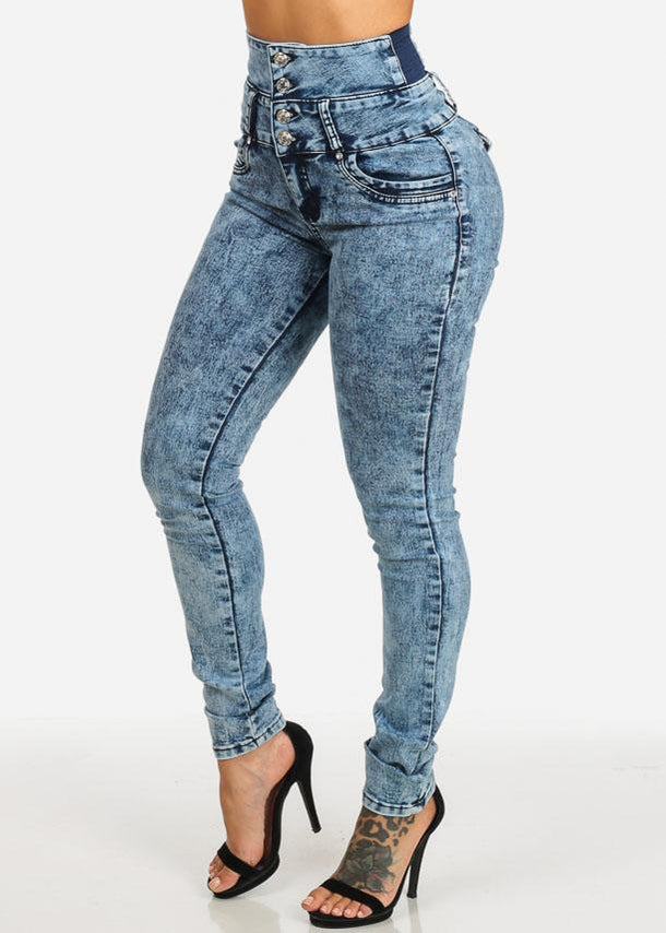 High Waist Levanta Cola Skinny Jeans
