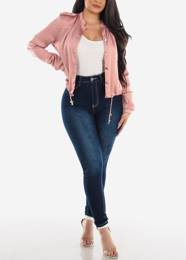 Pink Satin Lightweight Jacket