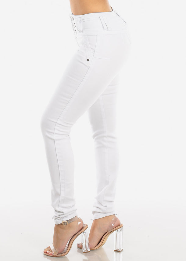 White Push Up Skinny Jeans