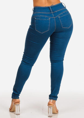 Affordable Med High Rise Butt Lifting Skinny Jeans