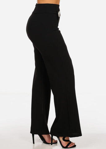 Image of High Rise Wide Leg Black Pants