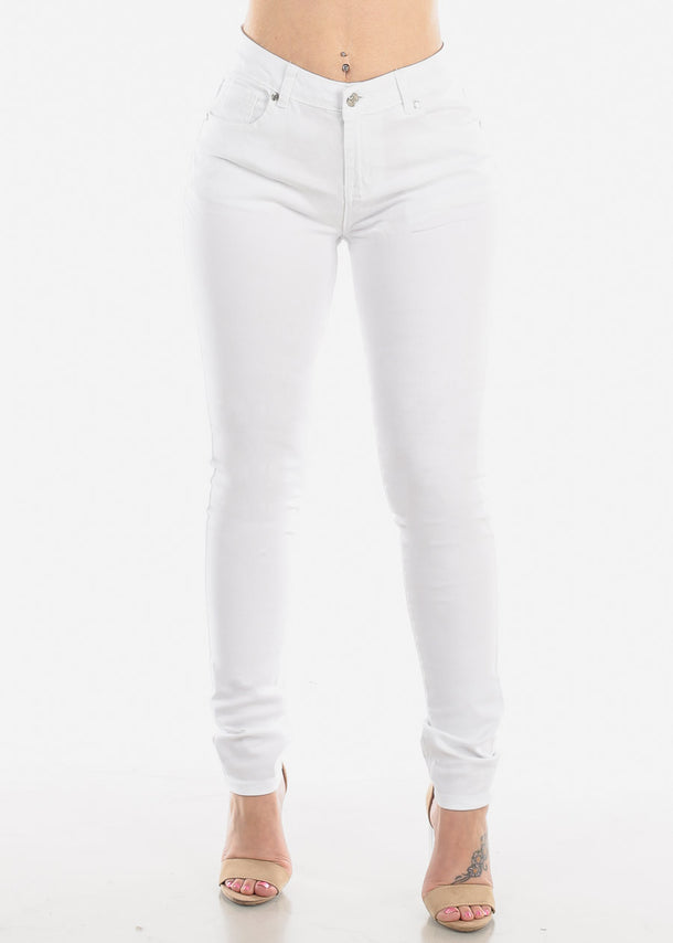 Classic White Skinny Jeans