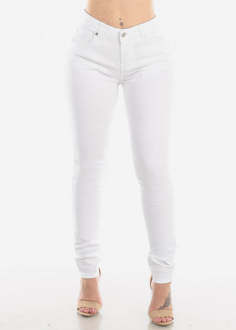 Image of Classic White Skinny Jeans