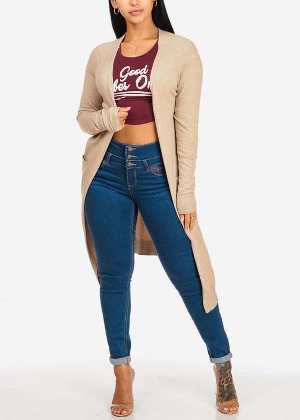 High Waisted Levanta Cola Med Skinny Jeans