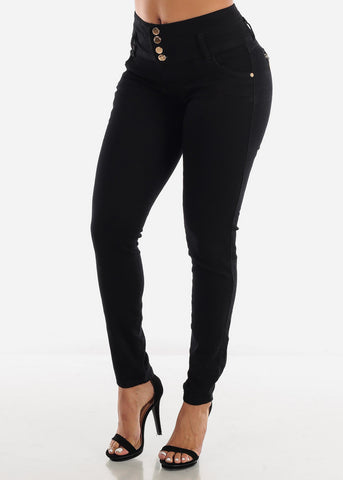 Levanta Cola High Rise Black Skinny Jeans
