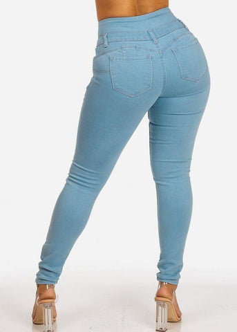 Affordable High Waisted Levanta Cola Skinny Jeans