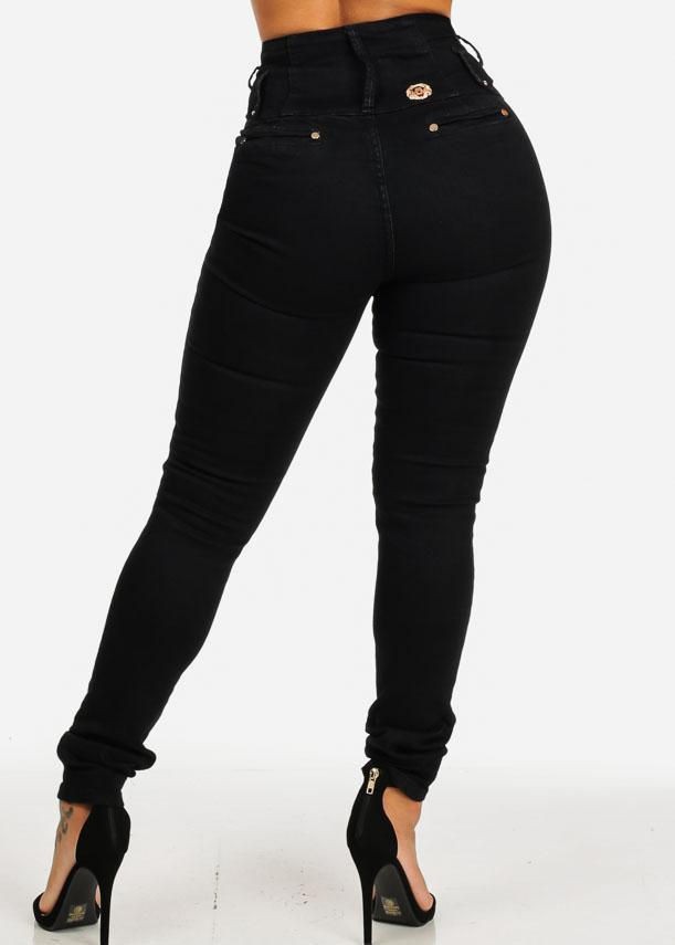 Ultra High Rise Black Skinny Jeans